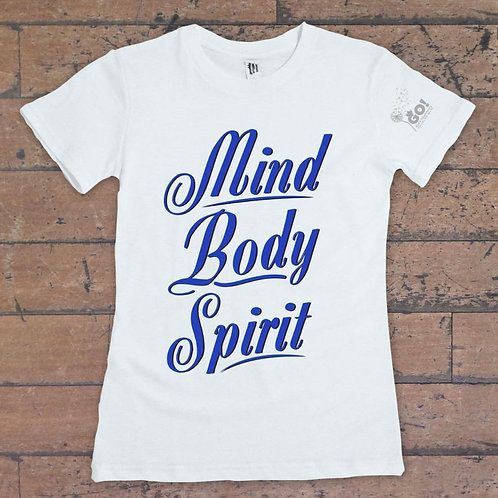 Mind, Body, Spirit (Black and Gold)T-shirt