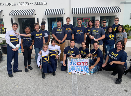 JROTC Drum Corps Marches In Naples MLK Jr. Parade