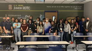 Dr. Patton Visits Naples JROTC To Welcome Cadets To School