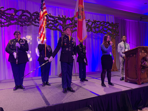 Color Guard Kicks Off Night of Champions Event