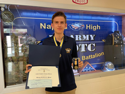 Company Commander Connor Bricco Earns First Place in Sons of American Revolution Contest
