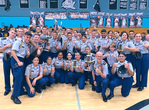 Drill & Color Guard Teams Excel at the County Drill Competition