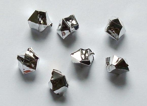 Acrylsteine klein, ca. 10x14mm, silber 1kg