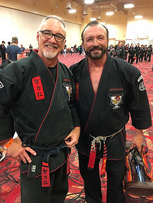 Tony Angus with his self defence mentor, Jeff Speakman