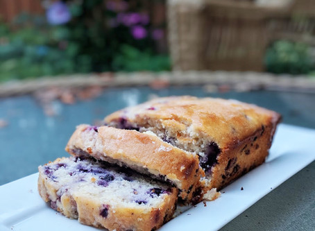 Dairy-Free Lemon Blueberry Bread (DF, GF option, VE option)