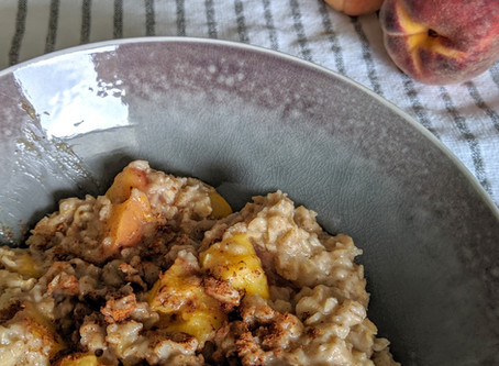 Maple Peach Oatmeal DF, GF & VE)