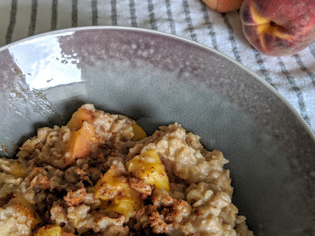 Maple Peach Oatmeal