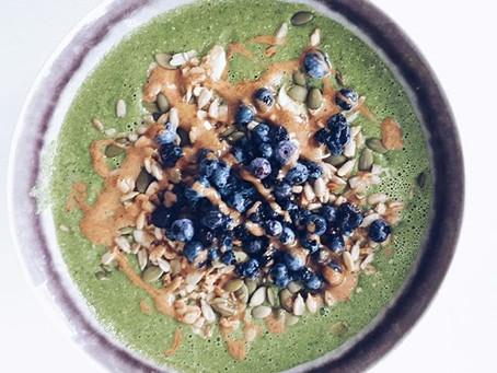 Greens, Greens and More Greens Smoothie Bowl