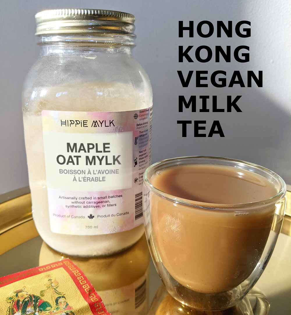 Plant-based Hong Kong vegan milk tea recipe made with all natural oat milk.