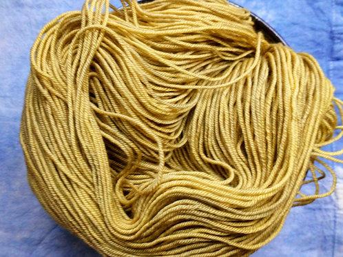 YELLOW 4 -  4ply fingering Merino and Silk
