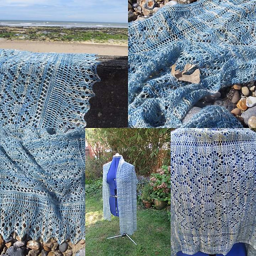WILD ATLANTIC WRAP  PATTERN AND YARN