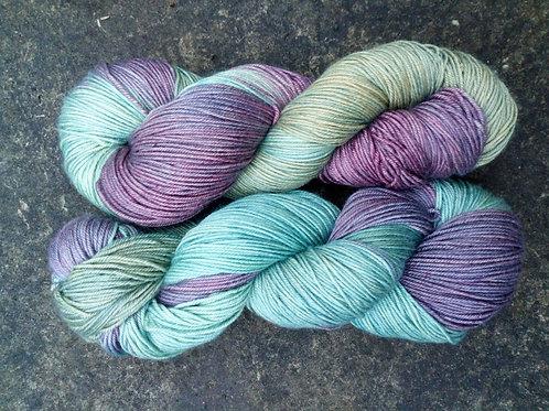 METALLIC LOVELIES  -  4ply fingering Merino and Silk