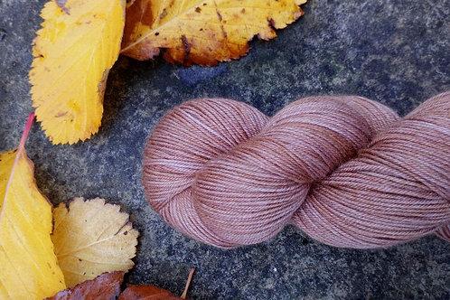 CHESTNUT -  4ply fingering Merino and Silk