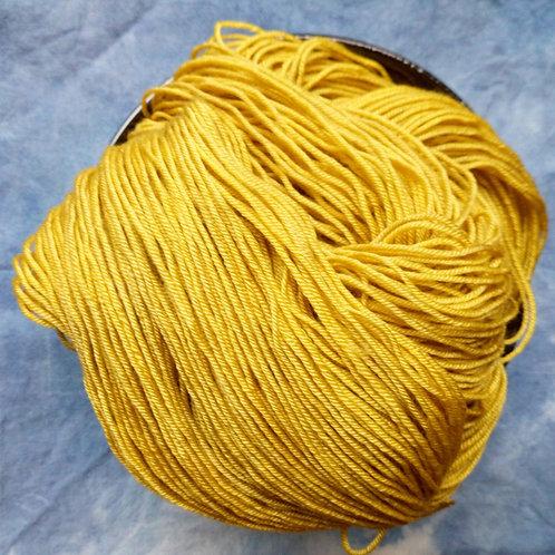 YELLOW 2 -  4ply fingering Merino and Silk
