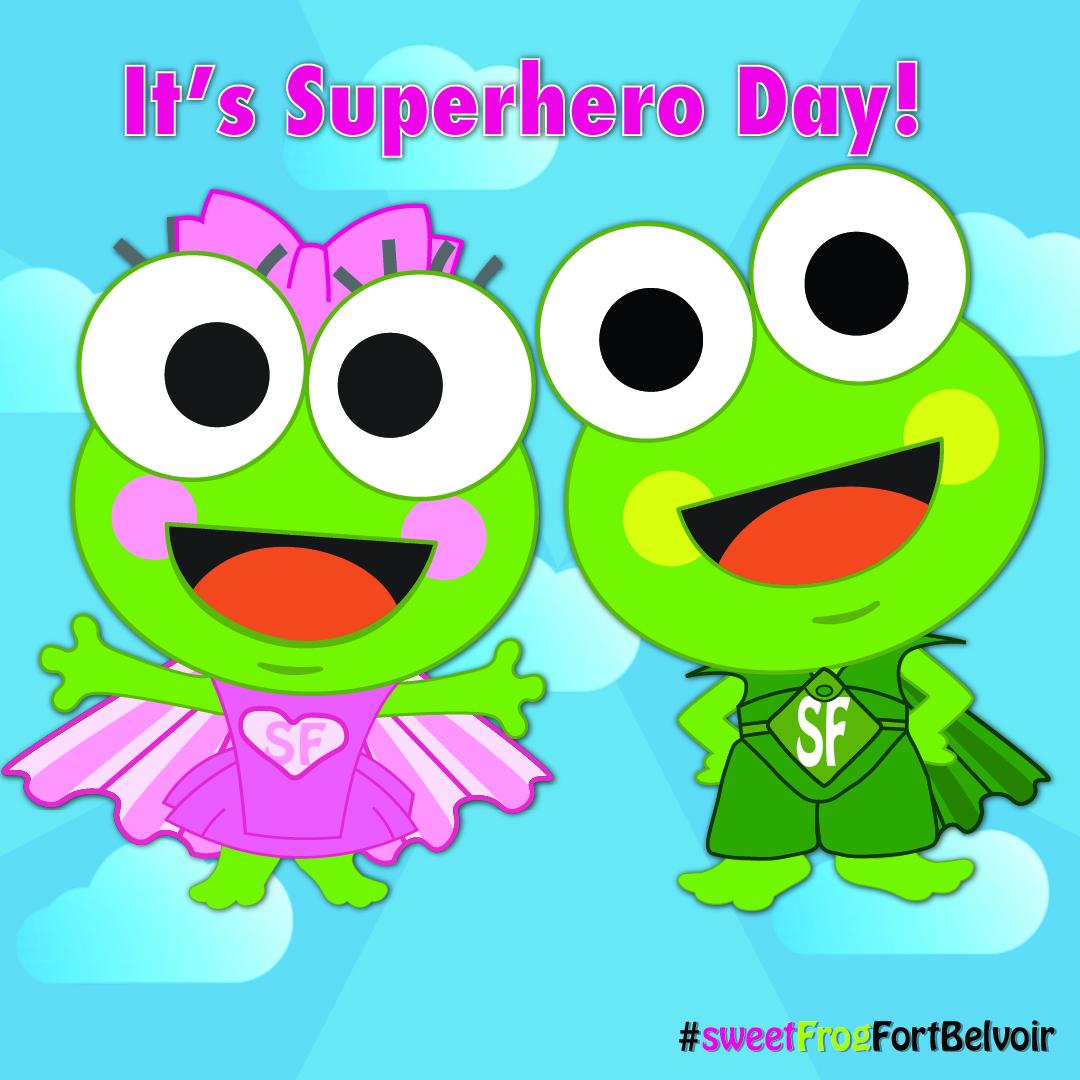 SweetFrog Superhero Day