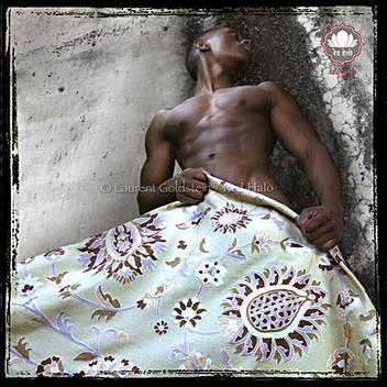 "Throw style ""Maharaja"" - Col. White - 150x200 - 100% wool"