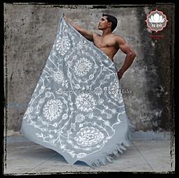 "hrow style ""Jaisalmer"" - col Grey - 150x200 - 100% wool"
