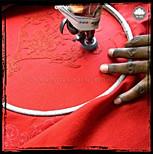 "Throw style ""Puna"" - Col Crimson - 150x200 - 100% wool"
