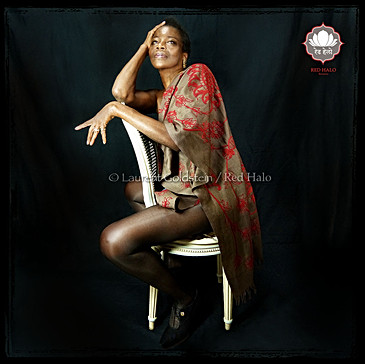 "Scarf style ""Jaisalmer"" - Col. Chocolate/Crimson - 200x70 - 100% Wool"