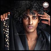 """Scarf style """"Sitaar"""" - Col. Black/Brown - 100% Wool"""