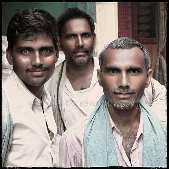 Portrait of three men