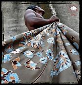 "Throw style ""Maharaja"" - Col. Walnut- 150x200 - 100% wool"