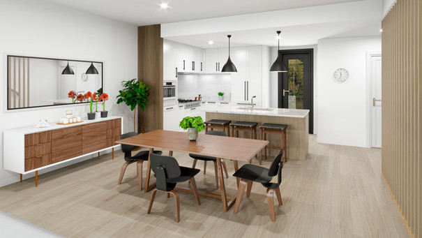 The Strand - Oceanview Townhomes - Living and Dining