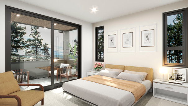 The Strand - Oceanview Townhomes - Master Bedroom