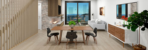 The Strand - Oceanview Townhomes - Living Room - Dining Room - Oceanview Development in Sechelt BC