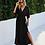 Thumbnail: Flowy Sleeve Maxi dress in Black