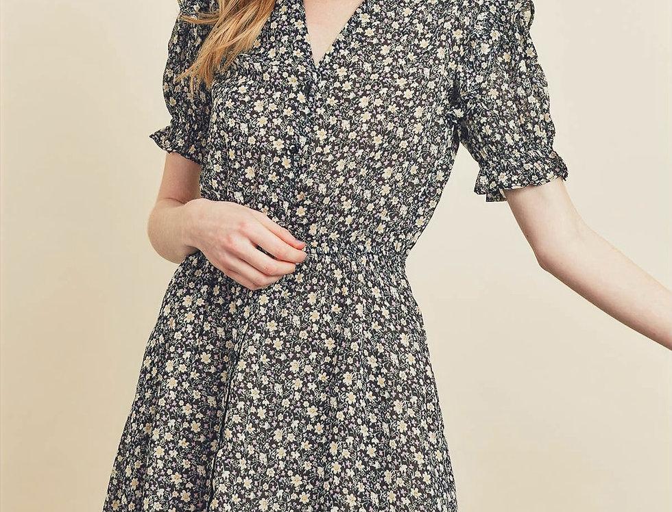 Floral Button-Down Dress