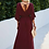 Thumbnail: Flowy Sleeve Maxi Dress in Wine