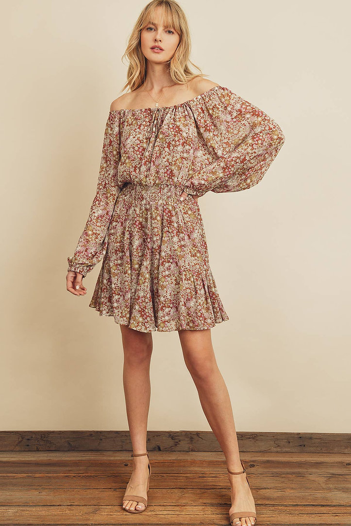 Into the Wild Off-the-Shoulder Dress5.jp