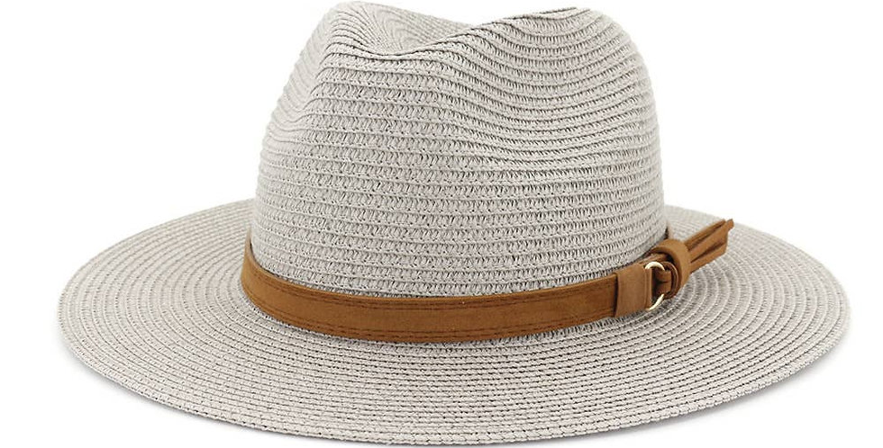 Straw Hat with Band Accent