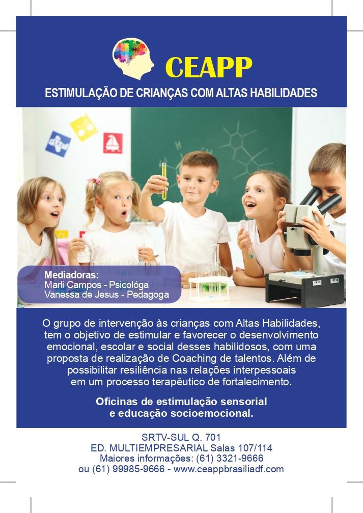 Estimulação de crianças com Altas Habilidades