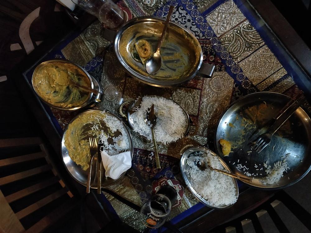 Písek: Indická restaurace (po jídle)