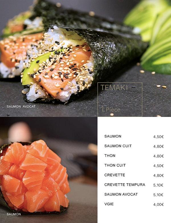 Htag sush - Mandelieu - Sushi - Menu - Temaki