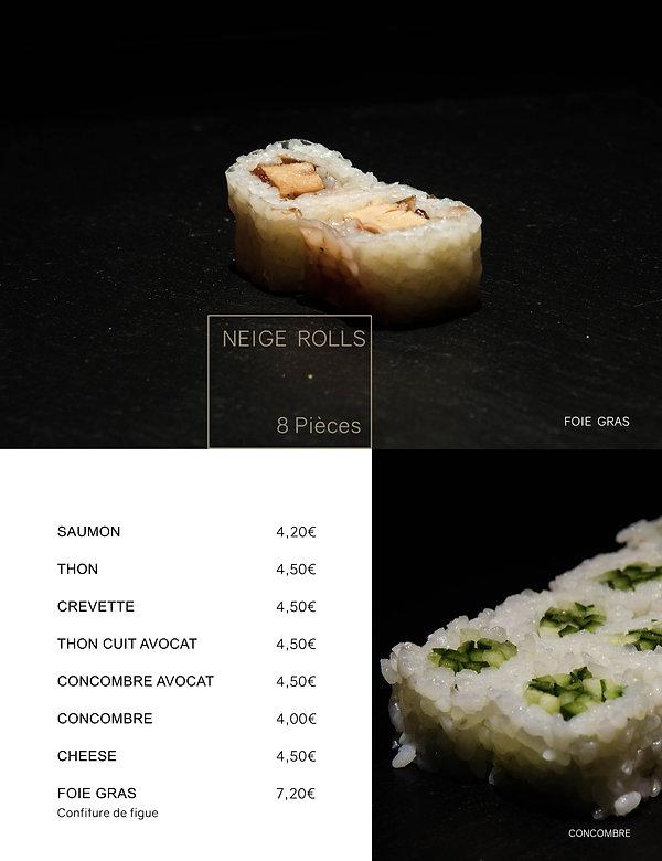 Htag sush - Mandelieu - Sushi - Menu - neige rolls