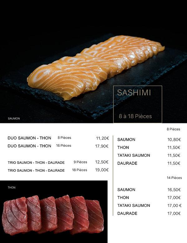 Htag sush - Mandelieu - Sushi - Menu - sashimi