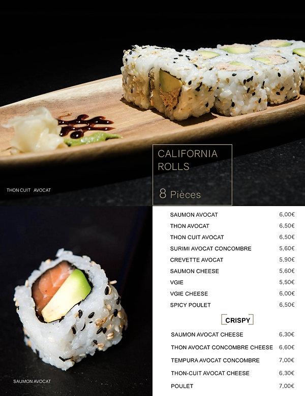 Htag sush - Mandelieu - Sushi - Menu - california rolls
