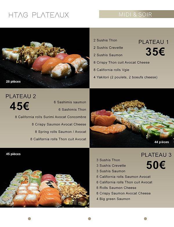 Plateaux - Htag sush - Mandelieu - Sushi - Menu