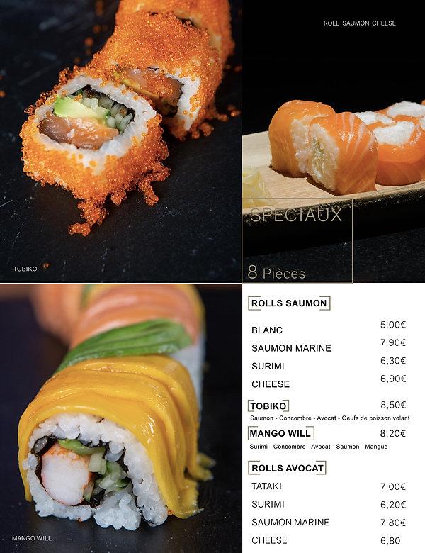 Htag sush - Mandelieu - Sushi - Menu - roll salmon