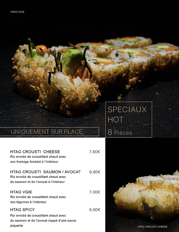 Htag sush - Mandelieu - Sushi - Menu - hot