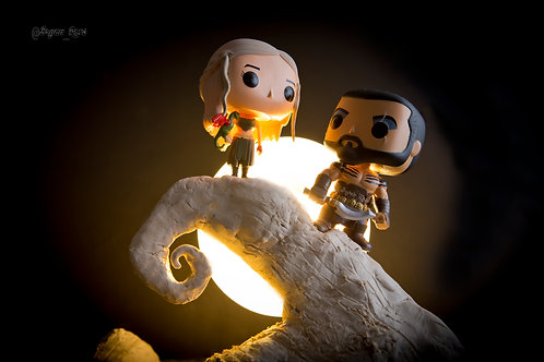 Daenerys & Drogo on Spiral Hill