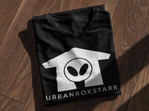 URBANROXSTARR WHITE LOGO BLACK SHIRT