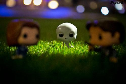 Scully & Mulder vs Grey Alien