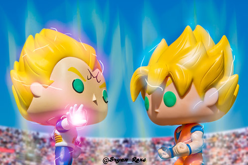 Majin Vegeta vs Super Sayin Goku