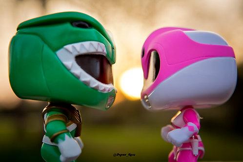 Green Ranger & Pink Ranger