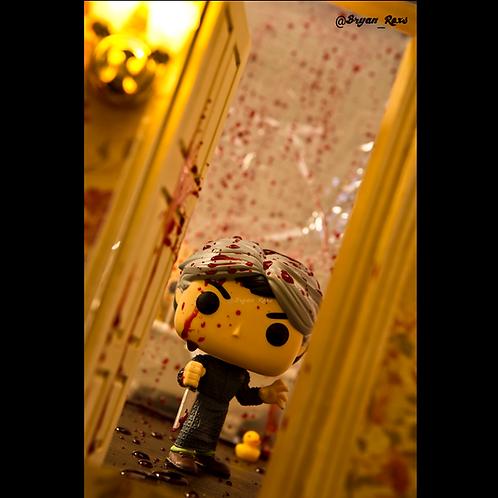Norman Bates Bathroom Scene (Bloody in color)