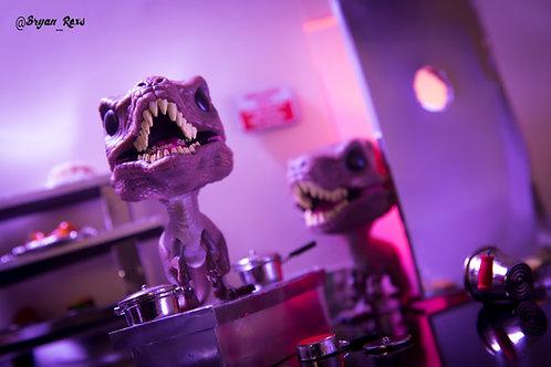Velociraptor in Kitchen scene